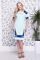 Сукня Фабіана льон м'ята р 52-58, фото 1