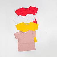 Однотонная  футболка для мальчиков