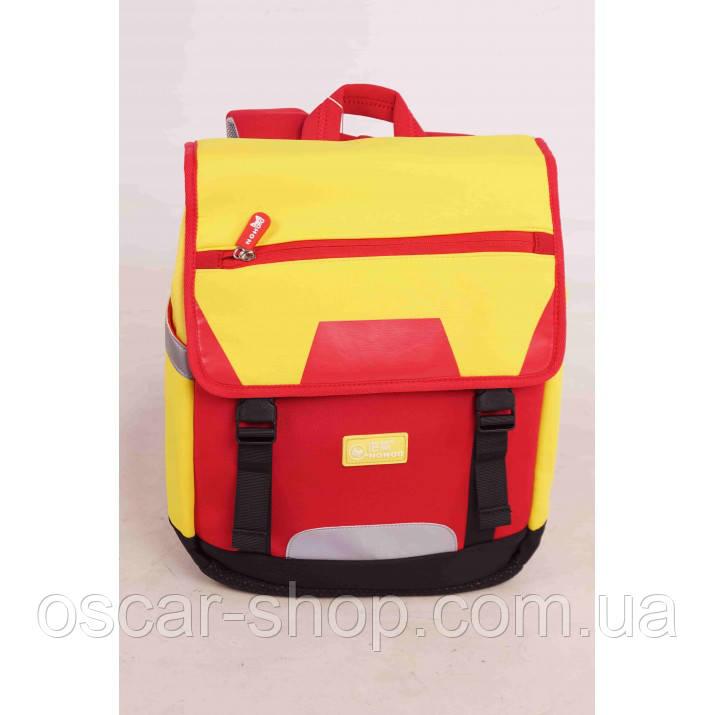 Рюкзак Красно-Желтый / Школьный ранец / Рюкзак для школьника / Рюкзак школьный / Рюкзак детский дошкольный