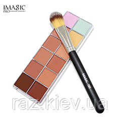 """12 цветов краска для лица, контур макияж, палитра для макияжа на вечеринку """"Imagic"""" тональный make up 30гр"""