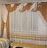 Комплект ламбрекен со шторой в спальню Агния 3.5м, фото 3