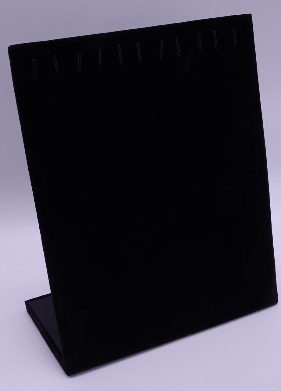 """Стойка планшет ювелирный """"Для браслетов 12 крючков черный бархат 25,2 х 20,2 х 8 см"""""""