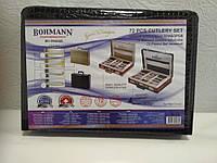 Набор столовых приборов Bohmann BH 5946 GD-E черный 72 пр, фото 1