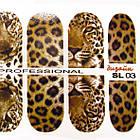 Наклейки Леопардові для Нігтів Нігтики PhotonailArt Водні Різнокольорові, Мала Пластина, Angevi SL 03, фото 4