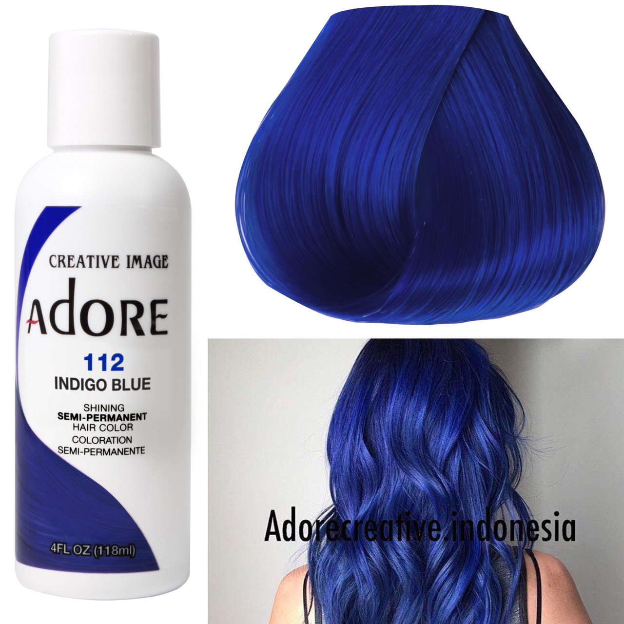 Adore Creative Image Hair Color 112 Indigo Blue Colorimage