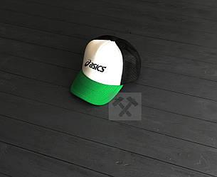 Кепка Тракер Asics зеленого, белого и черного цвета