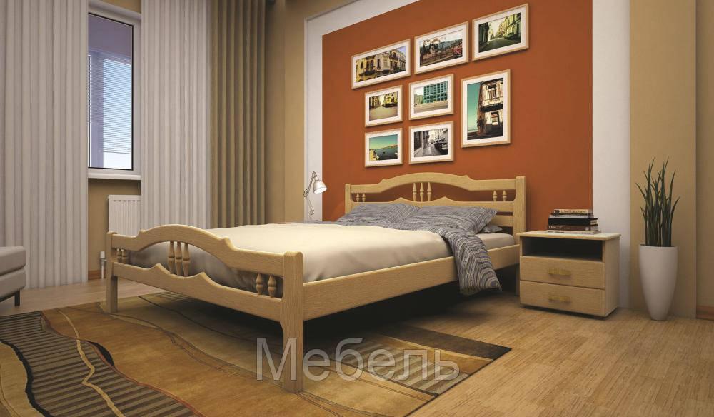 Кровать ТИС ЮЛІЯ 1 160*190 дуб
