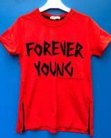 Модная футболка для мальчика с замками 14 лет