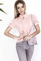 """Летняя женская блуза """"Джессика"""" с подвеской и коротким рукавом (4 цвета), фото 3"""