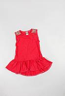 Летнее платье с оборкой для девочки
