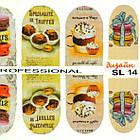 Наклейки для Нігтів Нігтики PhotonailArt Водні Різнокольорові, Мала Пластина, Angevi SL 14, фото 4