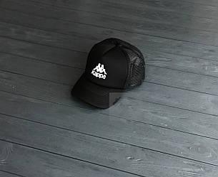 Кепка Тракер Kappa черного цвета (люкс копия)