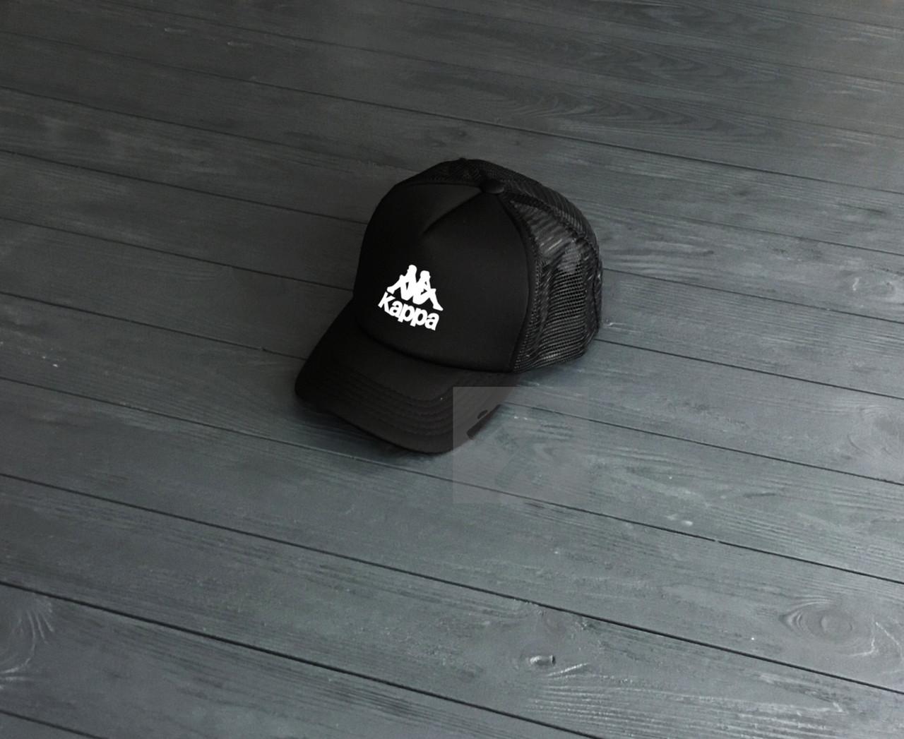 5a0c40a3d07b Кепка Тракер Kappa черного цвета - Интернет-магазин спортивной обуви и  одежды Sport House в