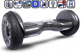 """Гироскутер Smart Balance SUV 10.5"""" Premium Карбон. С блютуз колонкой и самобалансировкой."""