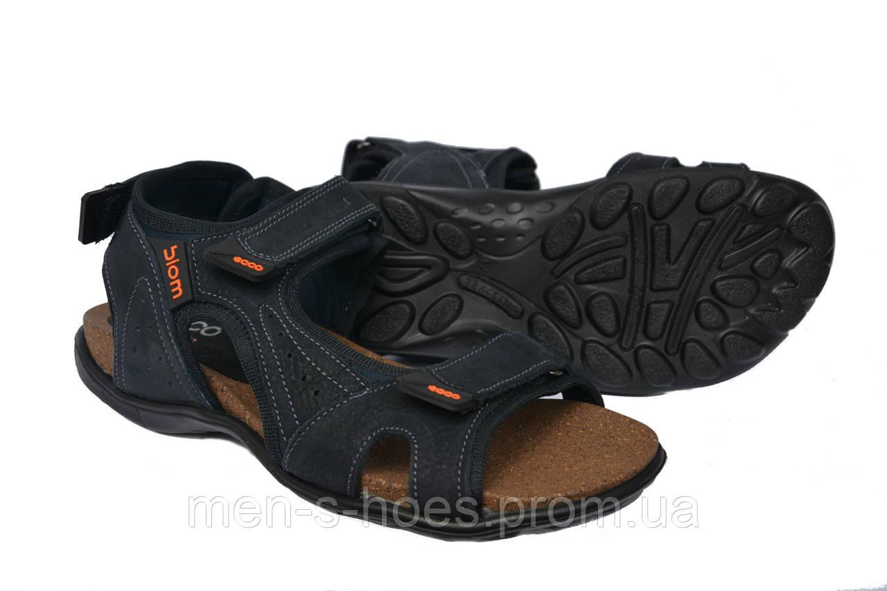 Сандали мужские кожаные Ecco Biom Blue  продажа 181a094f39117