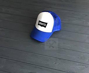 Кепка Тракер Levis синего и белого цвета