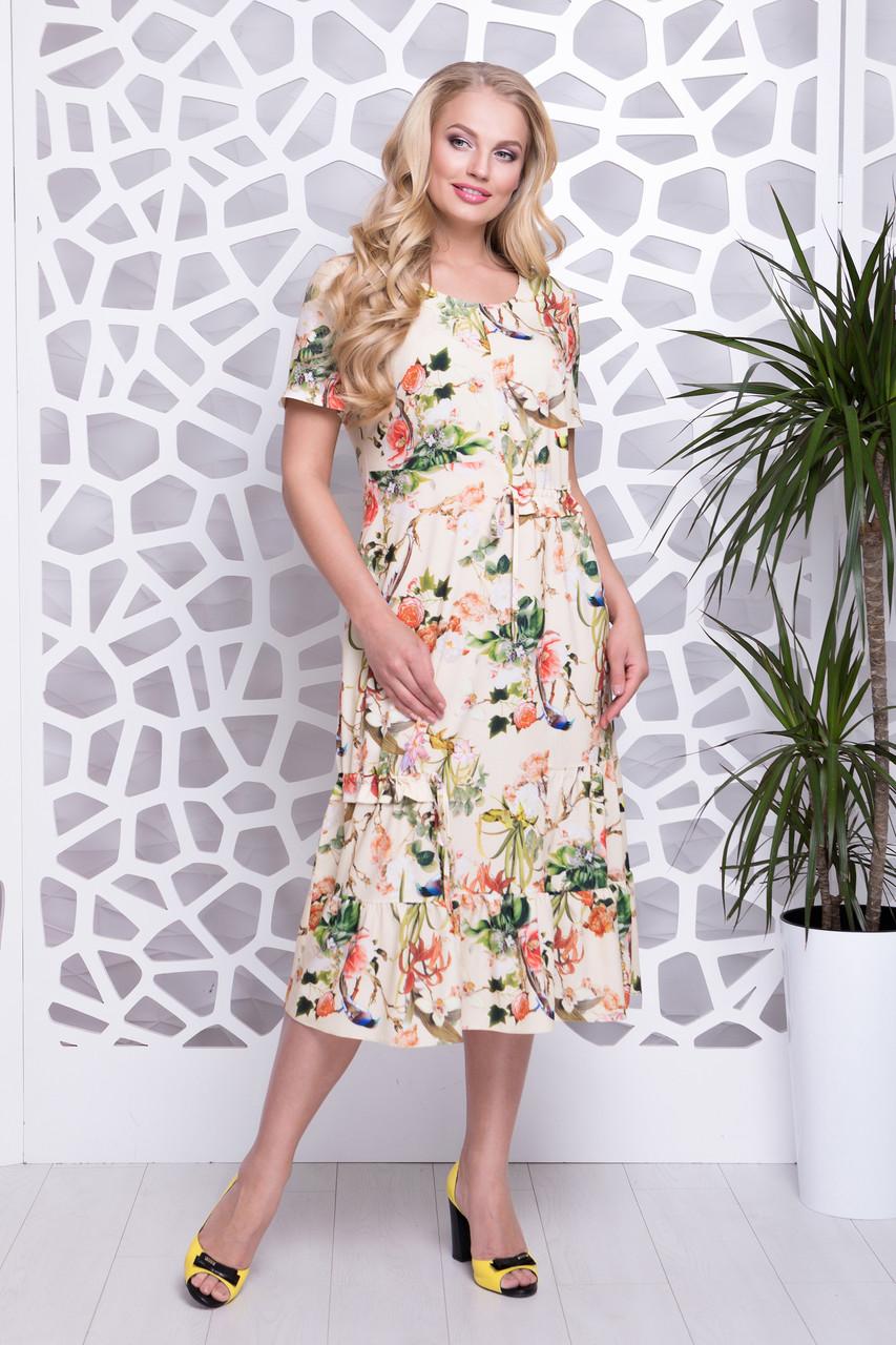 Платье Прада цветы лимон р 52-60  продажа, цена в Харькове. платья ... dbe7b1895c6