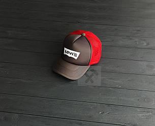 Кепка Тракер Levis коричневого и красного цвета