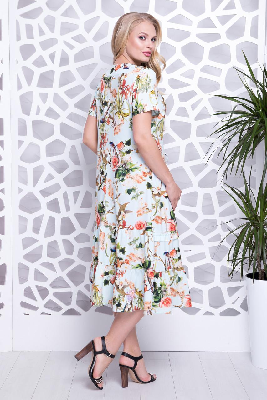 Платье Прада цветы мята р 52-60  продажа, цена в Харькове. платья ... 1900a61a999