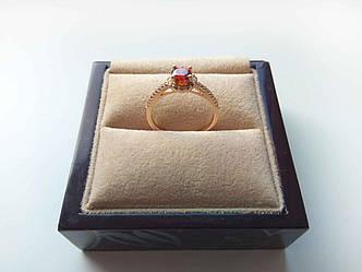 Кольцо с круглой окантовкой Позолота 18К р.17
