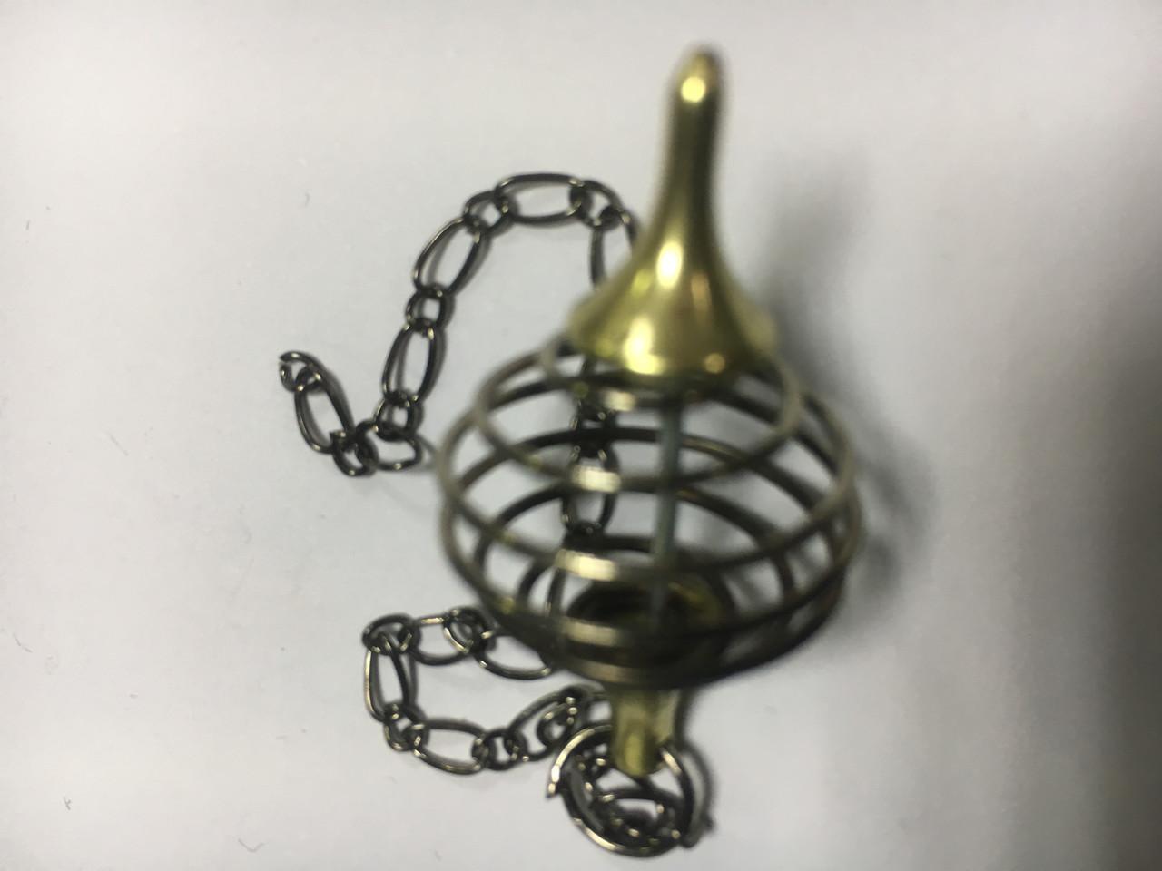Маятник  металлический  спиральный полый