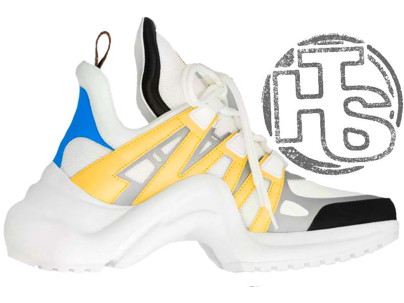 Женские кроссовки Louis Vuitton LV Archlight Sneaker White Yellow 1A43KL 866a4c10369