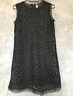 Летнее платье женское 1/1243. Размер: универсальный 42-46  черный