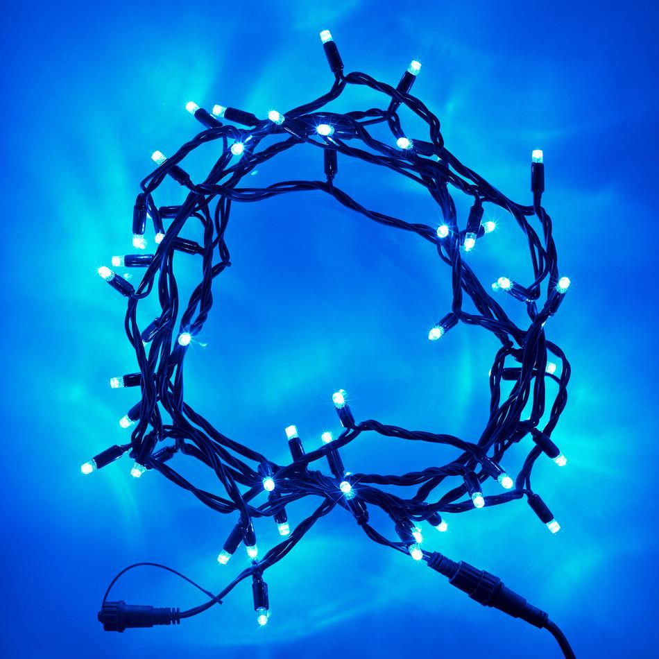 Гирлянда НИТЬ 10м, цвет синий