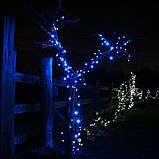 Гірлянда НИТКА 10м, колір синій, фото 3