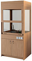 Лабораторный вытяжной шкаф для кабинета химии, с мойкой — 1044х700х2240 мм