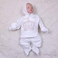 """Набор для младенца трех предметный """"Queen"""", молочный, фото 1"""