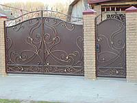 Кованые ворота В-13, фото 1