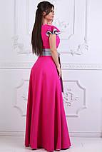 """Длинное летнее платье """"DONNA"""" с контрастным поясом (3 цвета), фото 3"""