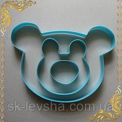 Кондитерский набор из трех формочек-выемок в виде головы медведя