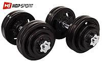 Гантели металлические Hop-Sport Strong 2х30кг для дома и спортзала