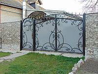 Кованые ворота В-17