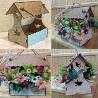 Ящик для цветов и декора, Кормушка