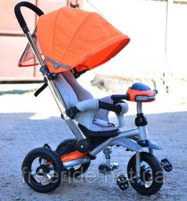 Детский трехколесный велосипед - коляска Crosser T-350 ECO AIR, фото 2