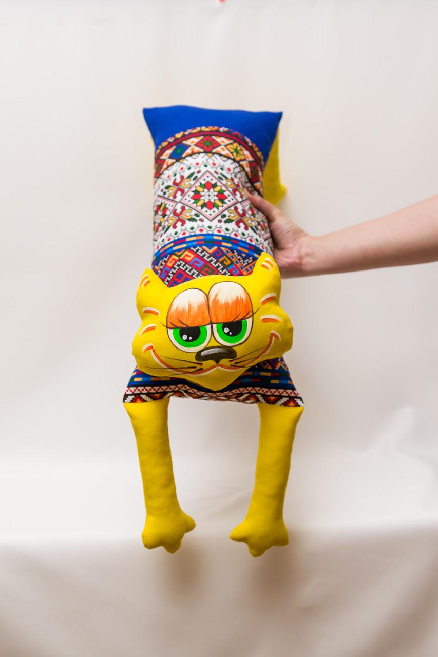 Диванная подушка Vikamade в Украинском стиле Кот 50/90 см.