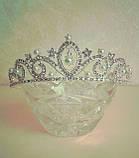 Корона, діадема, тіара під срібло з перлами, висота 4 див., фото 2