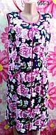 Халат женский Амели (безрукавка) из трикотажной ткани   в размерах от 52 до 62 больших размеров
