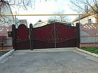 Ворота з профнастила В-20