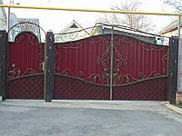 Ворота из профнастила В-20, фото 1