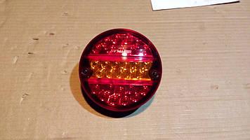Фонарь задний круглый с полосой LED