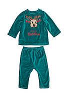 Детский новогодний костюм «Merry Christmas» на мальчиков от 2 до 12 мес. /р. 62-80 ТМ Модный карапуз Бирюзовый