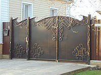 Кованые ворота В-25