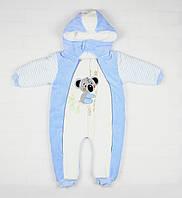 Зимний комбинезон голубого цвета с коалой для ребенка, фото 1