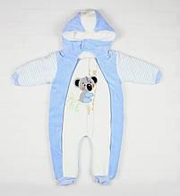 Зимний комбинезон голубого цвета с коалой для ребенка
