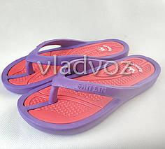 Женские сланцы шлепки вьетнамки шлепанцы пляжные фиолетовые 38р.