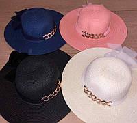 Стильная летняя женская шляпа